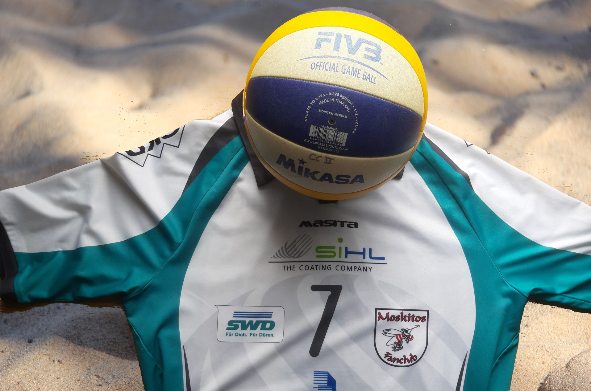 Moskitos-Shirt, Ball und Beach